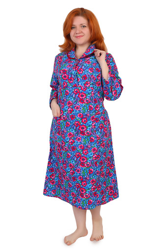 Платье на пуговицах (фланель Ярцево) Арт 002