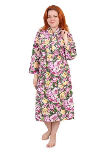 Платье на пуговицах (фланель Тейково) Арт 002