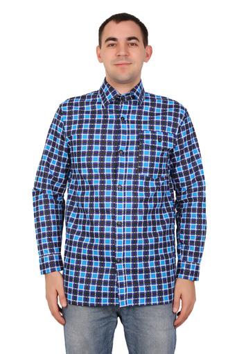 Сорочка мужская длинный рукав (бязь гост) 001