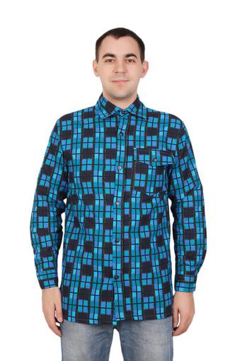 Сорочка мужская фланель (Ярцево) 003